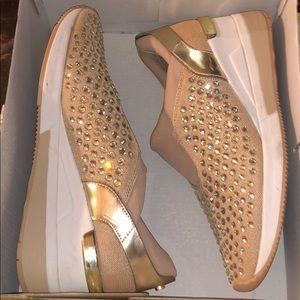 Beautiful rhinestoned MK sneakers.
